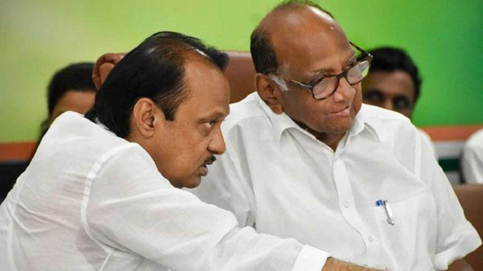 Sharad Pawar and Ajit Pawar during their good times.