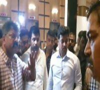WATCH: Police In Civil Dress Caught By NCP Leaders During Legislators Meet At Hotel Renaissance