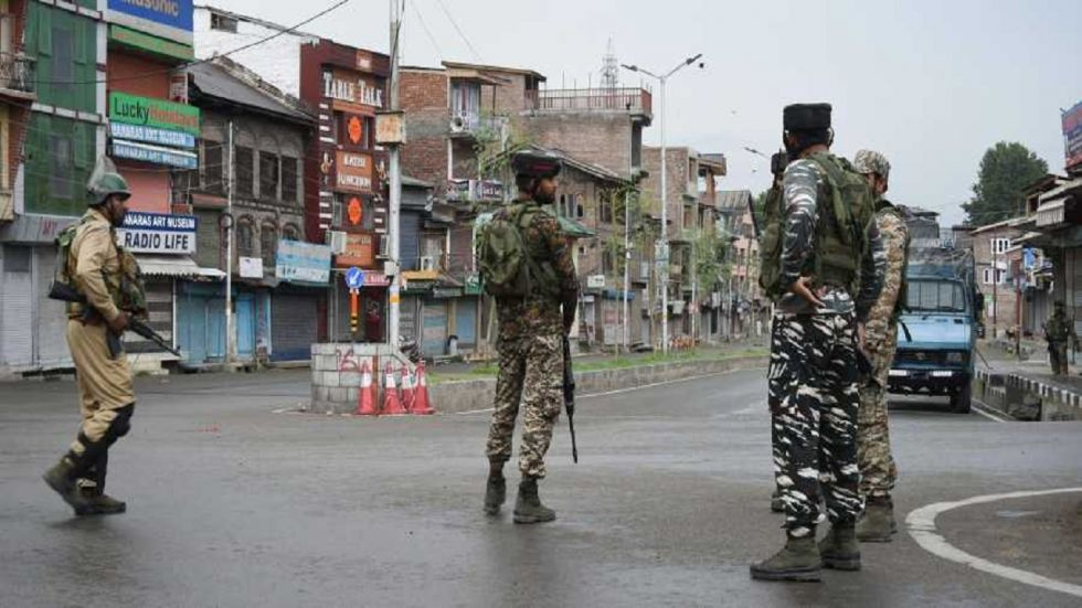 The Centre had referred to terror violence in the Kashmir Valley and said that for the past so many years terrorists were being pushed through from across the border.
