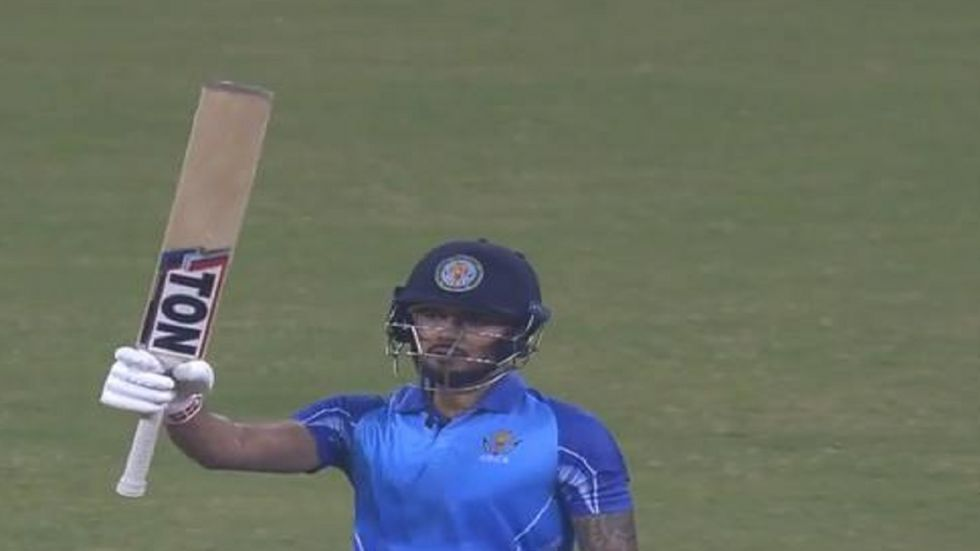 Skipper Manish Pandey led from the front with a sublime half-century.