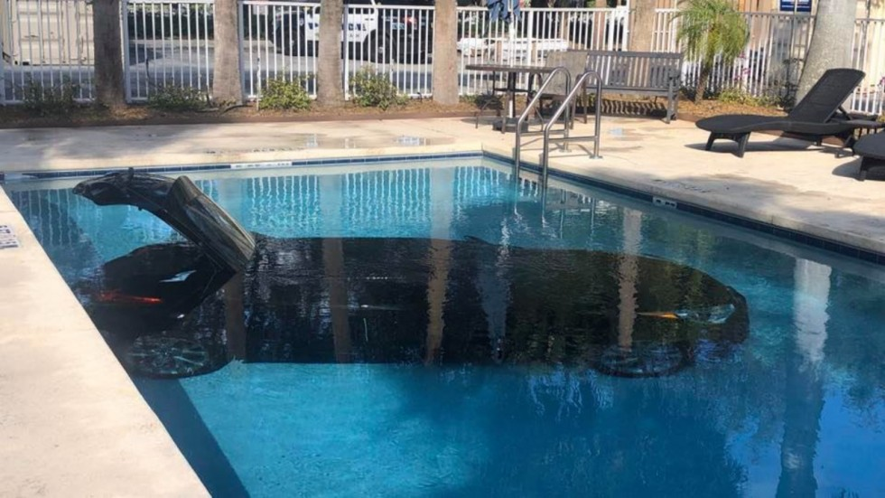 Photos Of Car Submerged In Pool Goes Viral,