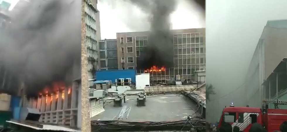 Several firefighters were trying to douse the flames with the help of NDRF teams. (ANI Photo)