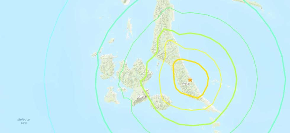 The earthquake struck the Indonesian islands at 09:10 (local time). (Photo: USGS Graphic)