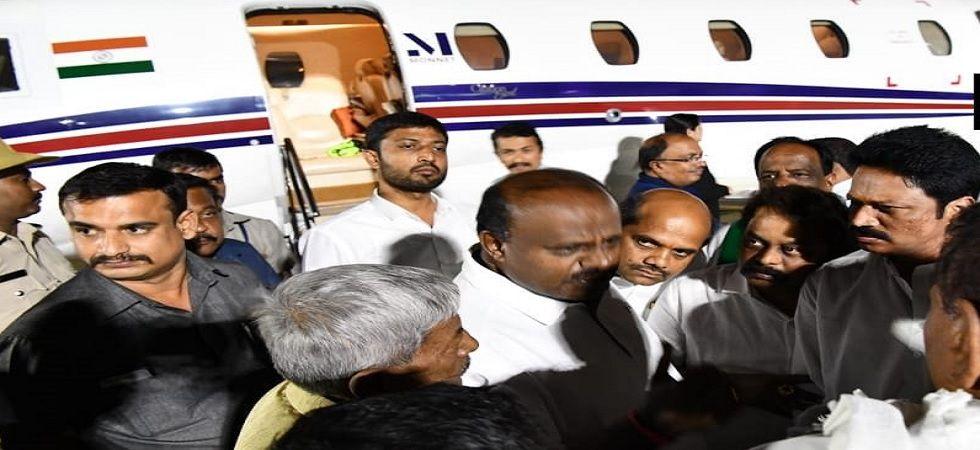 Karnataka CM HD Kumaraswamy lands in Bengaluru, to meet JDS MLAs soon