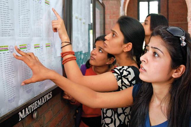 Delhi University first cut off list announced