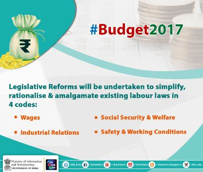Union Budget 2017-18 simplified through Infographics