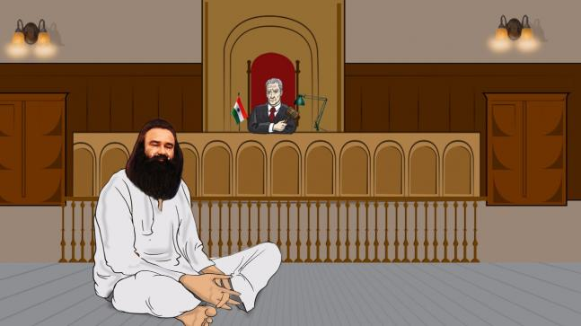 In pics: After judgement, Dera chief broke down in tears, pleaded for mercy, dragged out of court