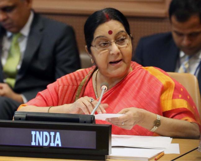In pics Swaraj meets counterparts from eight nations at UNGA 2017