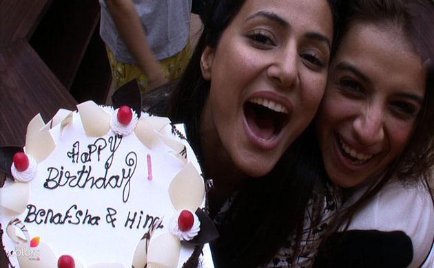 Salman Khan Bigg Boss 11 Hina Khan Benafsha Soonawala birthday celebrations