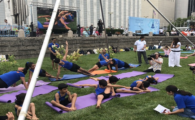 In pictures: International Yoga Day 2018 pictures from around the word