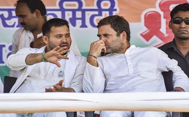 With Shatrughan Sinha, Tejashwi Yadav by his side, Rahul Gandhi holds mega roadshow in Patna