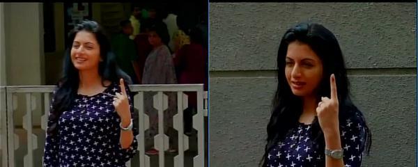 Bollywood votes on Maharashtra polling day
