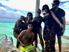 Ajay Devgn shares pictures of Kajol in Bikini and daughter Nysa in Maldives