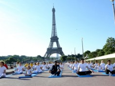 3rd International Yoga Day World stretches and twists to celebrate yoga day