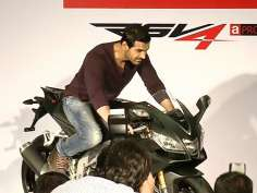 John Abraham launches Aprilia bike in Mumbai