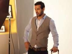 John Abraham shoots for Skybag ad