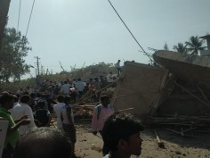 Under construction building collapses in Karnataka Dharwad several feared trapped