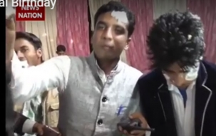 Shivpal's Birthday celebrated in Etawah