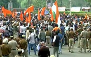 ABVP begins 'Save DU' march in North Campus; heavy security deployed