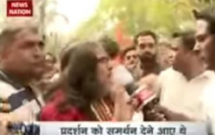 Ex-Bigg Boss contestant Swami Om tries to join ABVP march; students raise 'go back' slogan