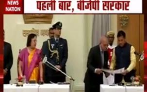 N Biren Singh takes oath as Manipur CM