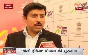 Sports Minister Rajyavardhan Singh Rathore launches  'Khelo India' campaign in New Delhi