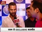 Shikhar Dhawan gears up for Champions League T20