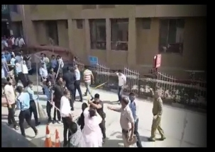 WATCH: Patient's family beaten by bouncers in police presence at AIIMS