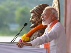 IN PICS: PM Narendra Modi Lambastes Congress Over Stance On Article 370