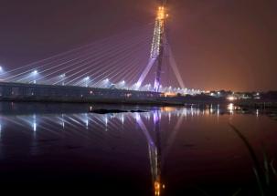 Delhi CM Arvind Kejriwal inaugurates city's Signature Bridge