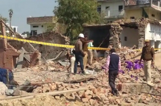 Explosion in two-storey building in UP's Bhadohi, many die