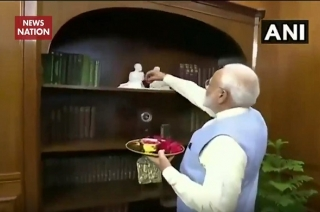 Breaking: Here's first visuals of Prime Minister Modi at his office