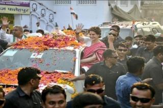 Priyanka Gandhi on Kanpur road show after Amethi meetings