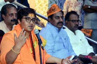 Sadhvi Pragya Thakur files nomination from Bhopal constituency