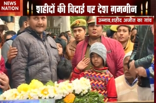 7-year-old daughter of killed jawan shows solider-like gesture