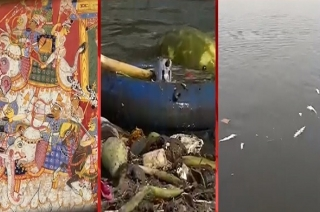 Devotees blame authorities for failing to keep Yamuna clean