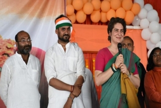 Priyanka Gandhi Vadra begins three-day 'Ganga Yatra' from Prayagraj